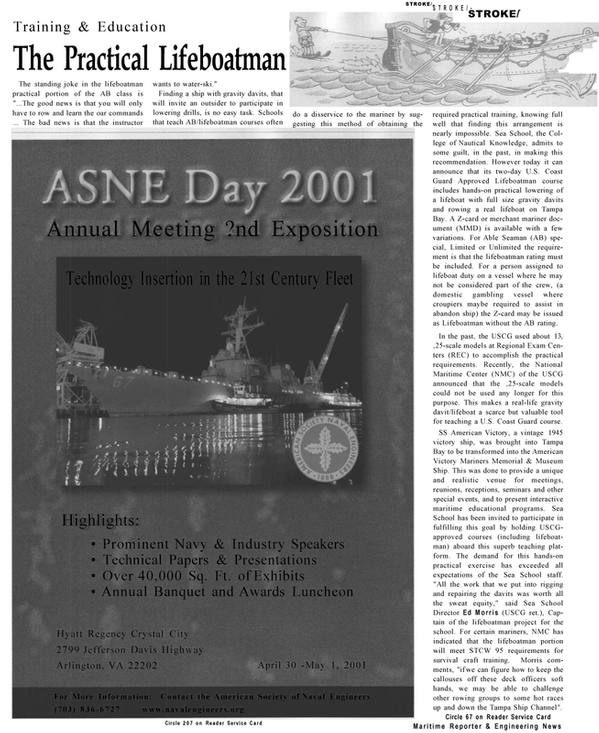 Maritime Reporter Magazine, page 48,  Mar 2001 Prominent Navy