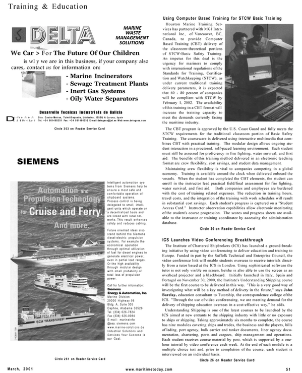 Maritime Reporter Magazine, page 51,  Mar 2001 Suffolk Technical and Enterprise Council