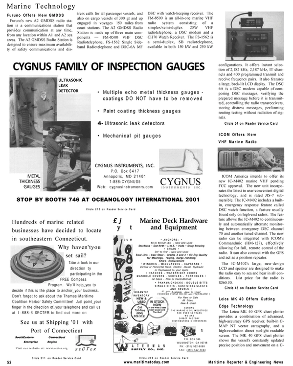 Maritime Reporter Magazine, page 52,  Mar 2001 Maryland