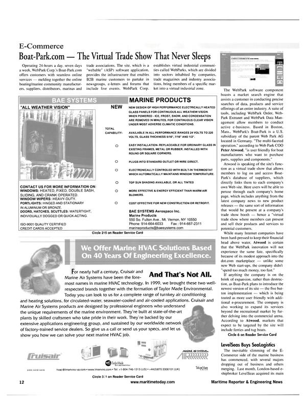 Maritime Reporter Magazine, page 12,  Apr 2001 marine HVAC technology