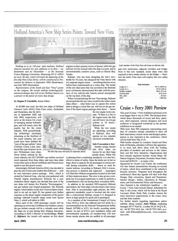 Maritime Reporter Magazine, page 25,  Apr 2001 Alaska