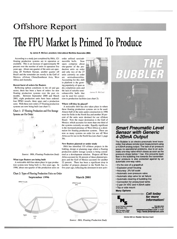 Maritime Reporter Magazine, page 33,  Apr 2001 Gulf of Mexico