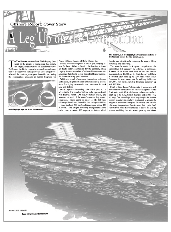Maritime Reporter Magazine, page 40,  Apr 2001 Belle Chasse