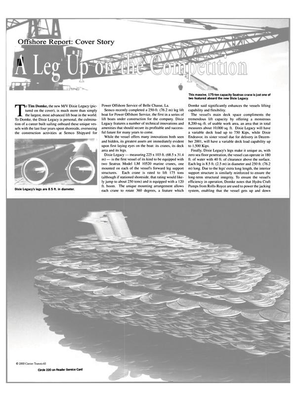 Maritime Reporter Magazine, page 40,  Apr 2001