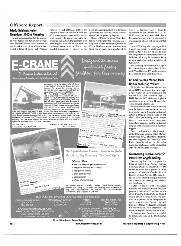 Maritime Reporter Magazine, page 48,  Apr 2001 Pat Short