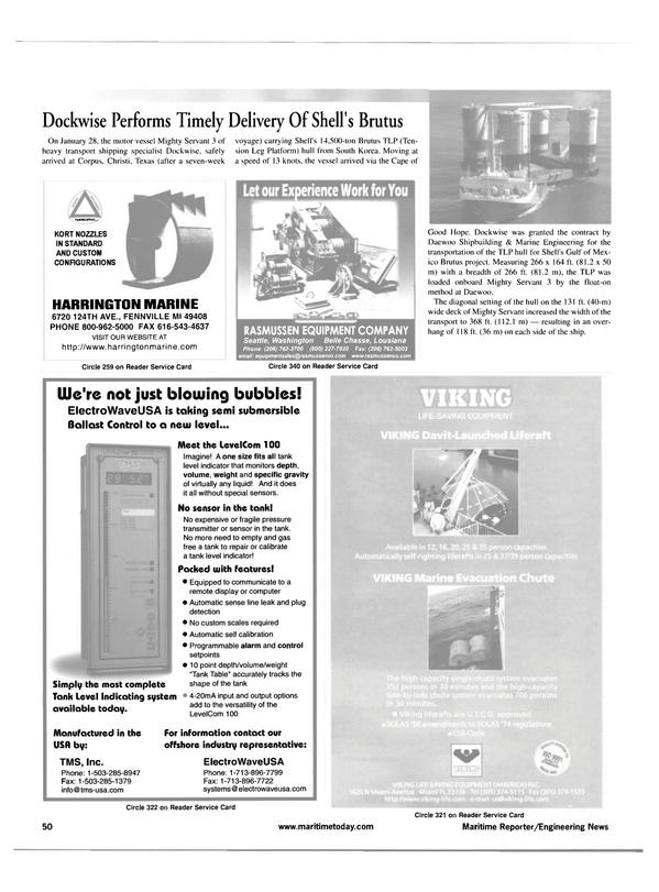 Maritime Reporter Magazine, page 50,  Apr 2001 Gulf of Mex