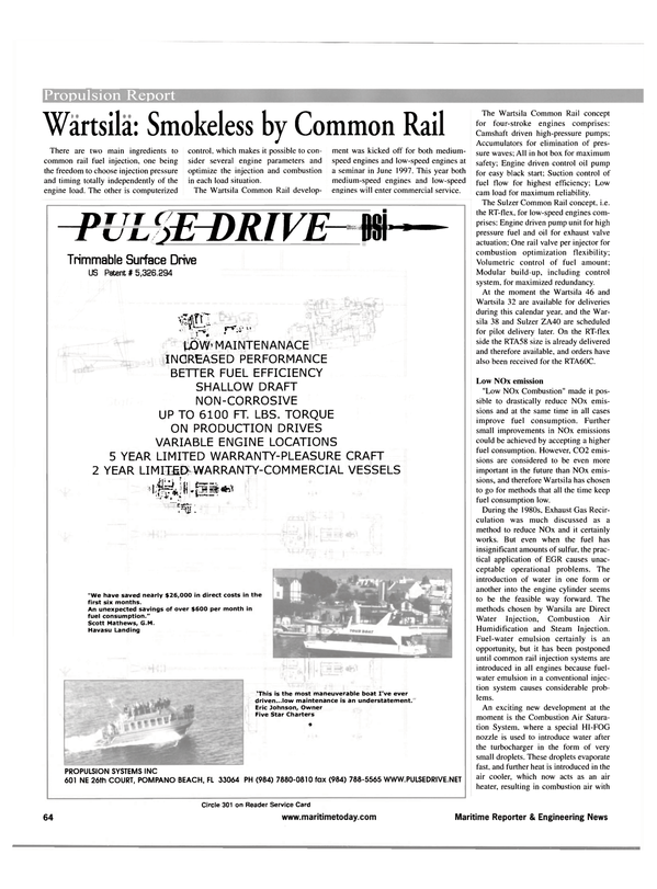 Maritime Reporter Magazine, page 64,  Apr 2001 Scott Mathews