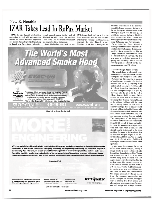 Maritime Reporter Magazine, page 14,  May 2001 United States
