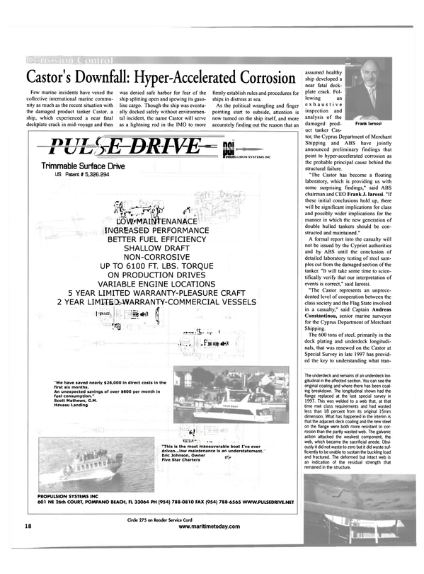 Maritime Reporter Magazine, page 18,  May 2001 a ship