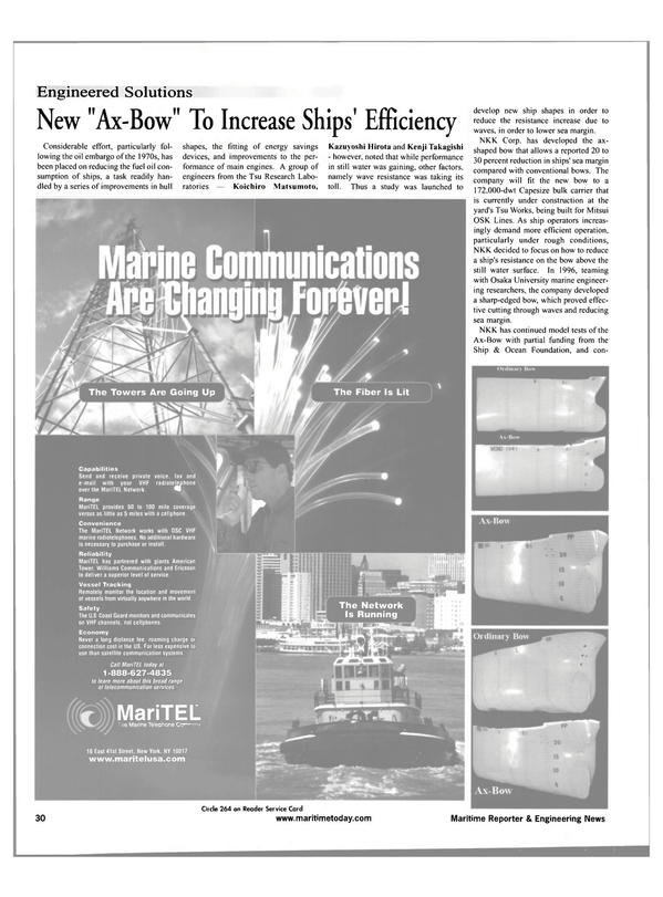 Maritime Reporter Magazine, page 30,  May 2001
