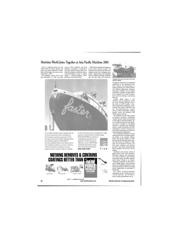 Maritime Reporter Magazine, page 28,  Jun 2001 waterblast equipment
