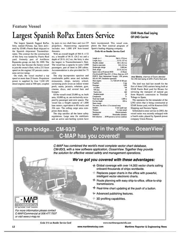 Maritime Reporter Magazine, page 12,  Jul 2001