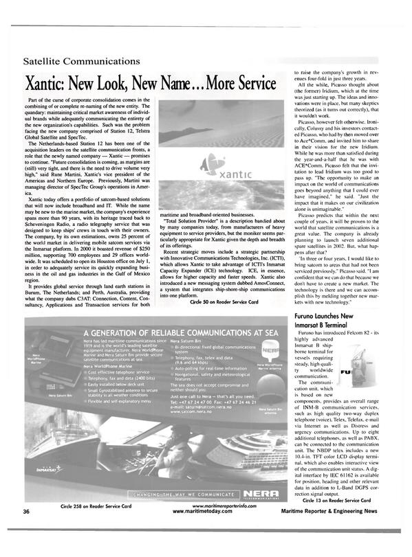 Maritime Reporter Magazine, page 36,  Jul 2001