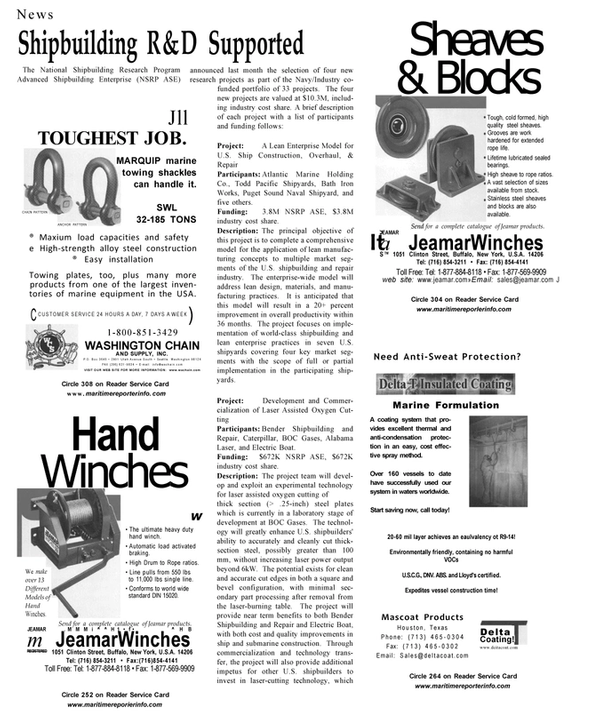 Maritime Reporter Magazine, page 21,  Aug 2001 condensation