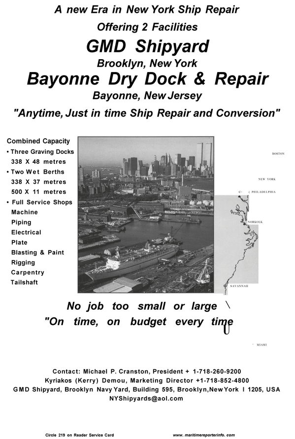 Maritime Reporter Magazine, page 49,  Aug 2001