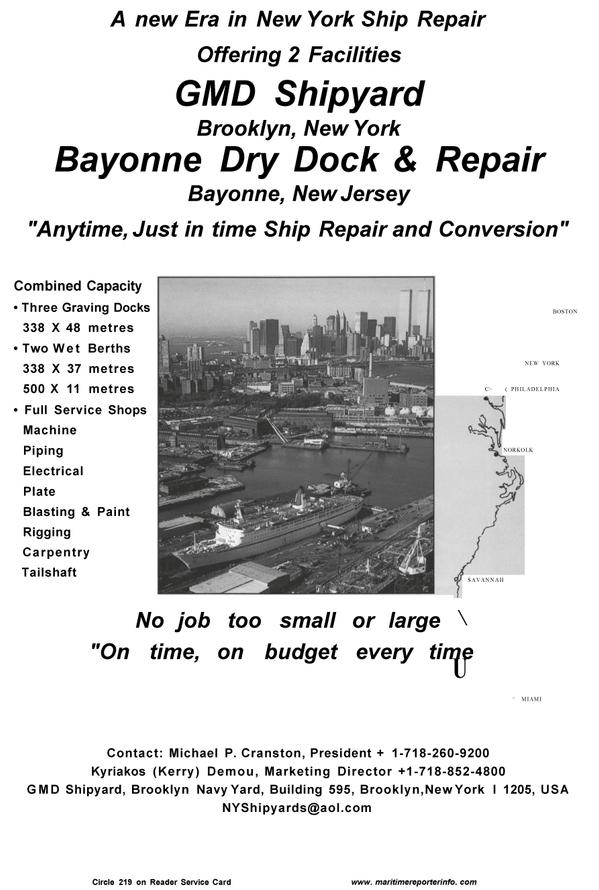 Maritime Reporter Magazine, page 49,  Aug 2001 Kyriakos (Kerry) Demou