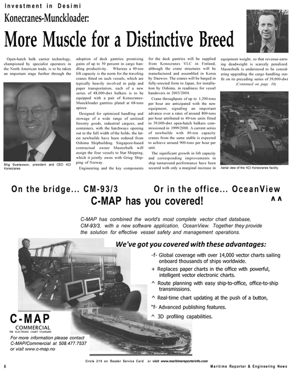 Maritime Reporter Magazine, page 8,  Sep 2001