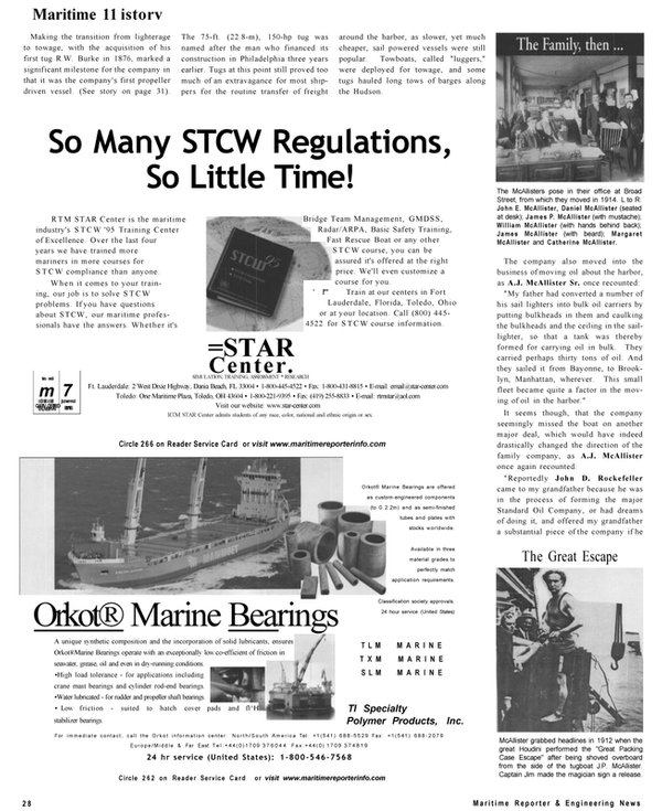 Maritime Reporter Magazine, page 28,  Sep 2001 Catherine McAl-lister
