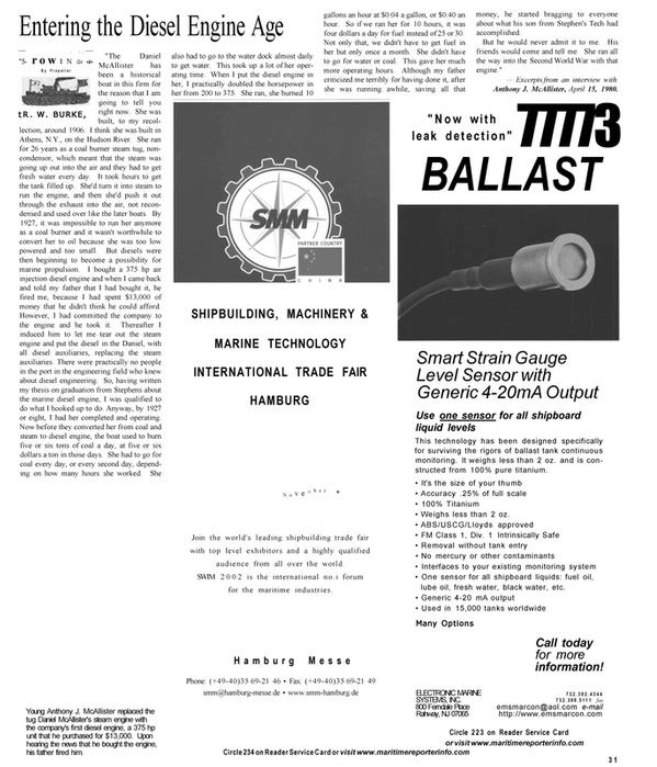 Maritime Reporter Magazine, page 31,  Sep 2001