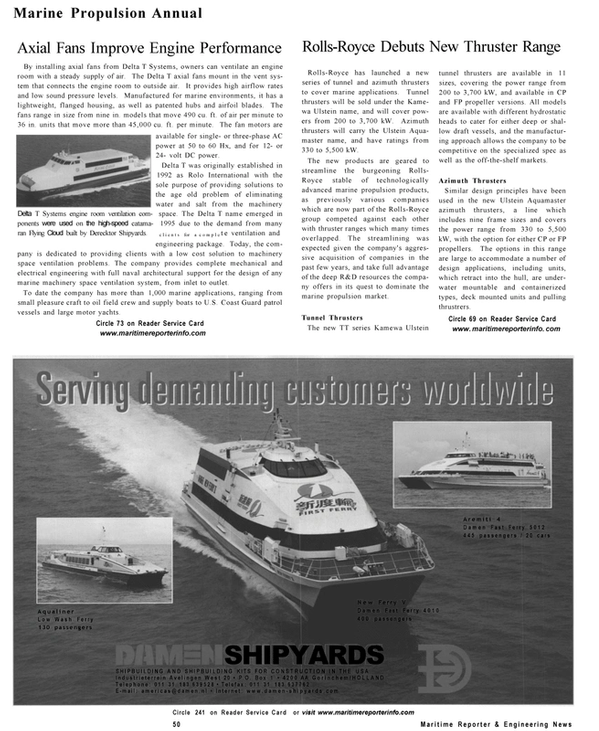 Maritime Reporter Magazine, page 48,  Sep 2001