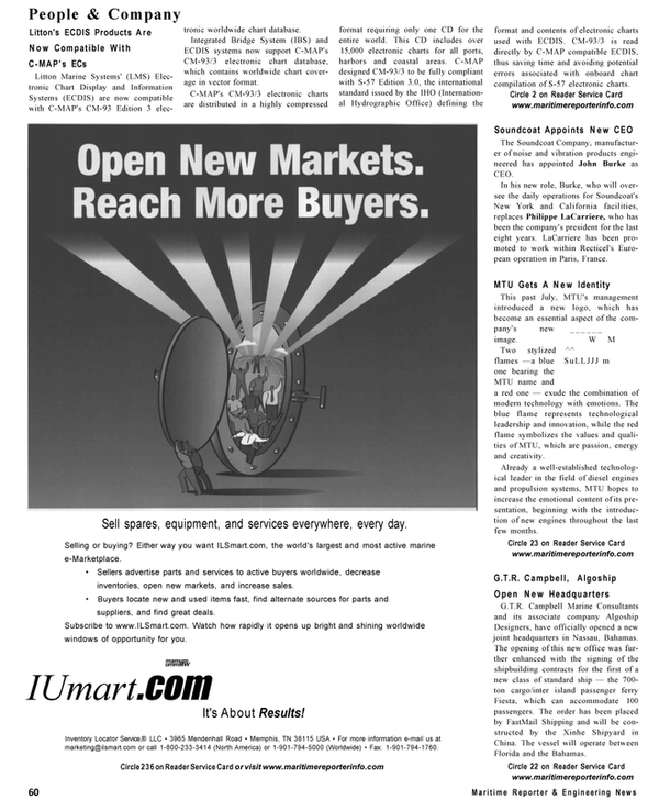 Maritime Reporter Magazine, page 60,  Sep 2001
