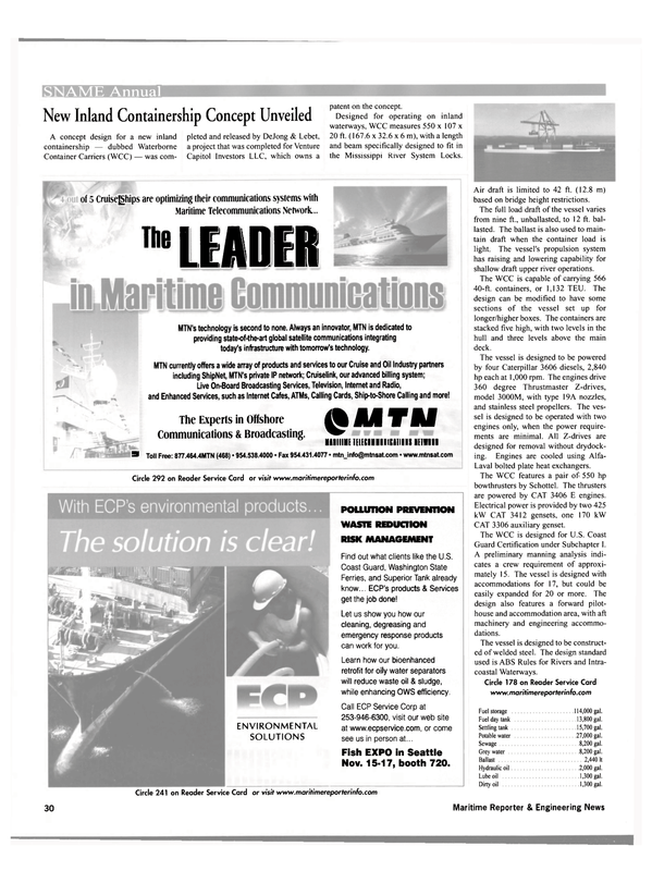Maritime Reporter Magazine, page 30,  Oct 2001 communications systems