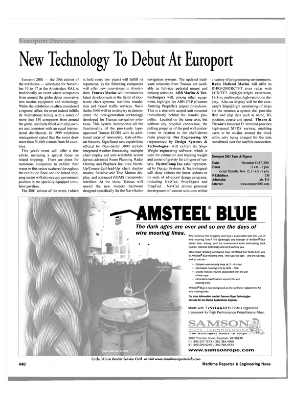 Maritime Reporter Magazine, page 46,  Oct 2001