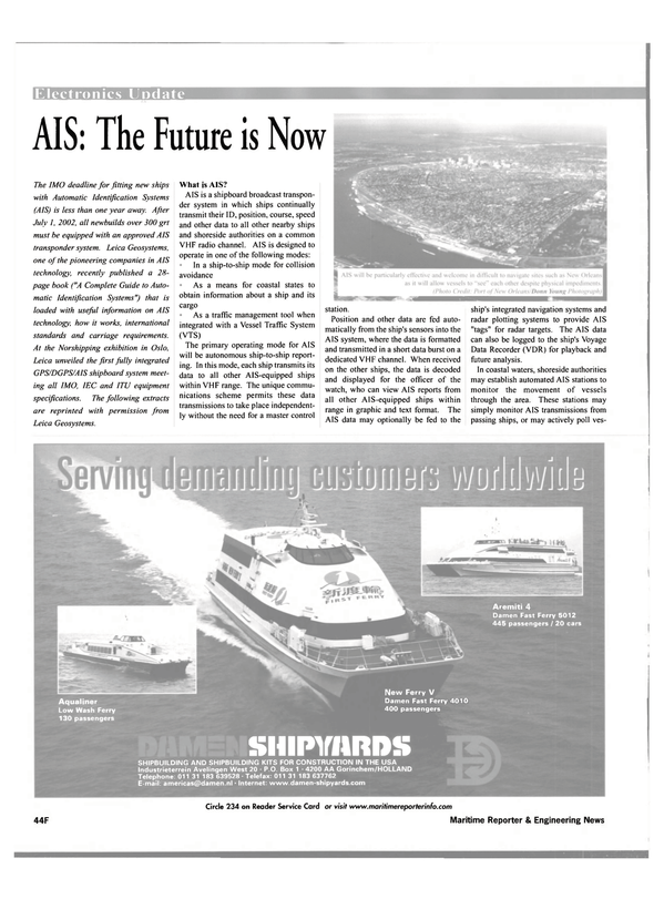 Maritime Reporter Magazine, page 50,  Oct 2001 radar plotting systems
