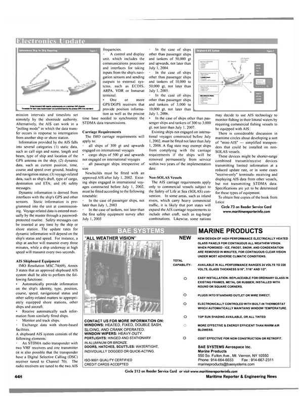 Maritime Reporter Magazine, page 52,  Oct 2001 condensation