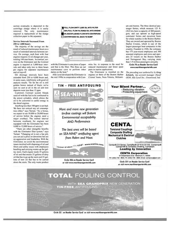 Maritime Reporter Magazine, page 70,  Oct 2001 Greg Schmelz