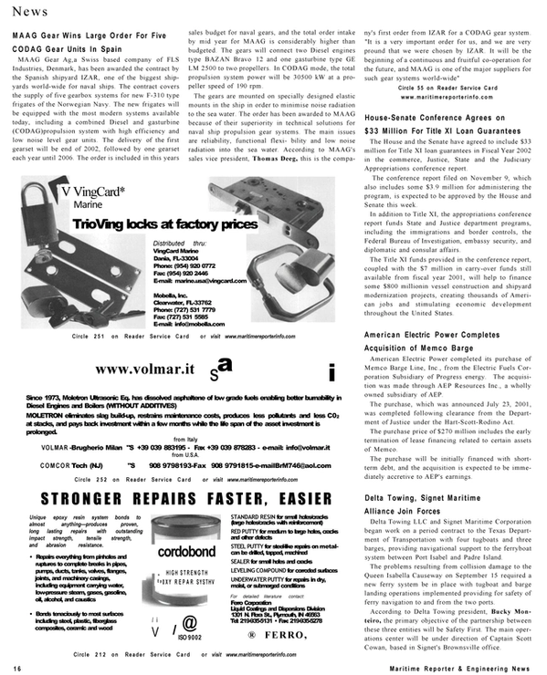 Maritime Reporter Magazine, page 16,  Dec 2001 Federal Bureau of Investigation