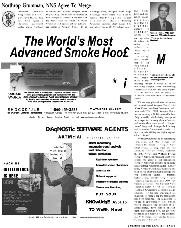 Maritime Reporter Magazine, page 4,  Dec 2001