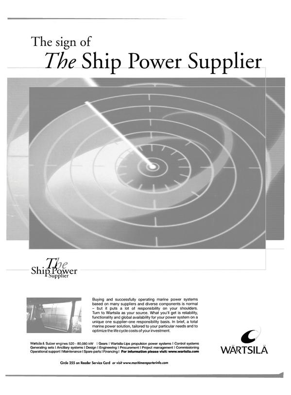 Maritime Reporter Magazine, page 10,  Jan 2002
