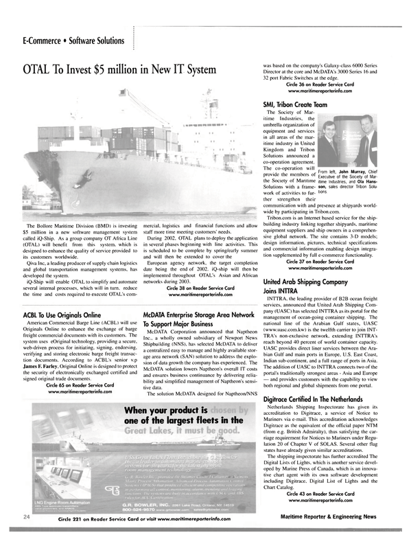Maritime Reporter Magazine, page 27,  Jan 2002 3-D
