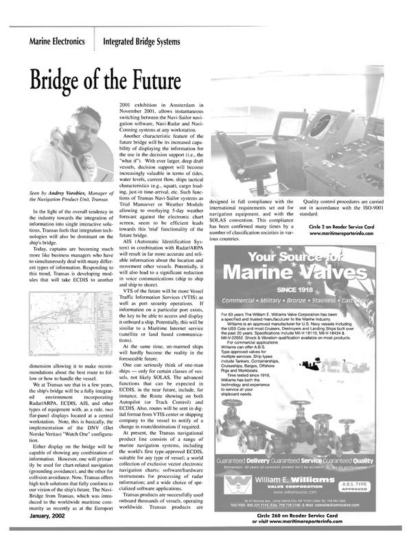 Maritime Reporter Magazine, page 44,  Jan 2002 Audrey Vorobiev