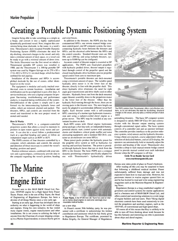Maritime Reporter Magazine, page 49,  Jan 2002 Robin Grigsby