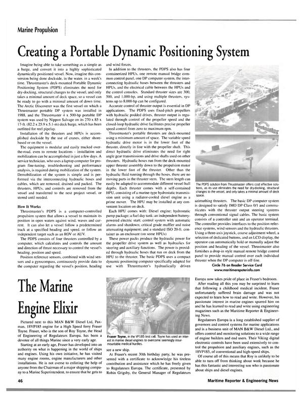 Maritime Reporter Magazine, page 49,  Jan 2002