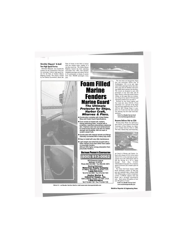 Maritime Reporter Magazine, page 8,  Feb 2002