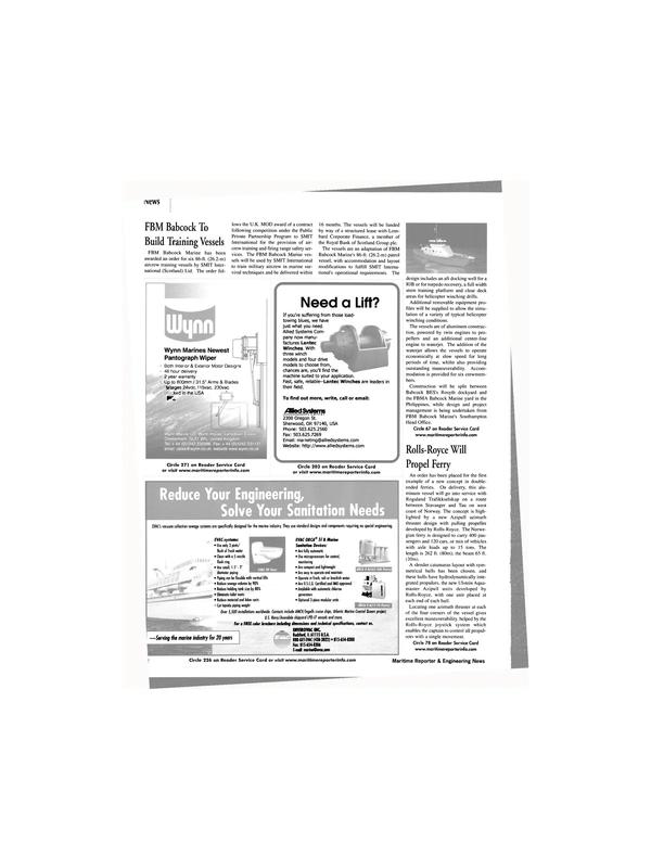 Maritime Reporter Magazine, page 12,  Feb 2002