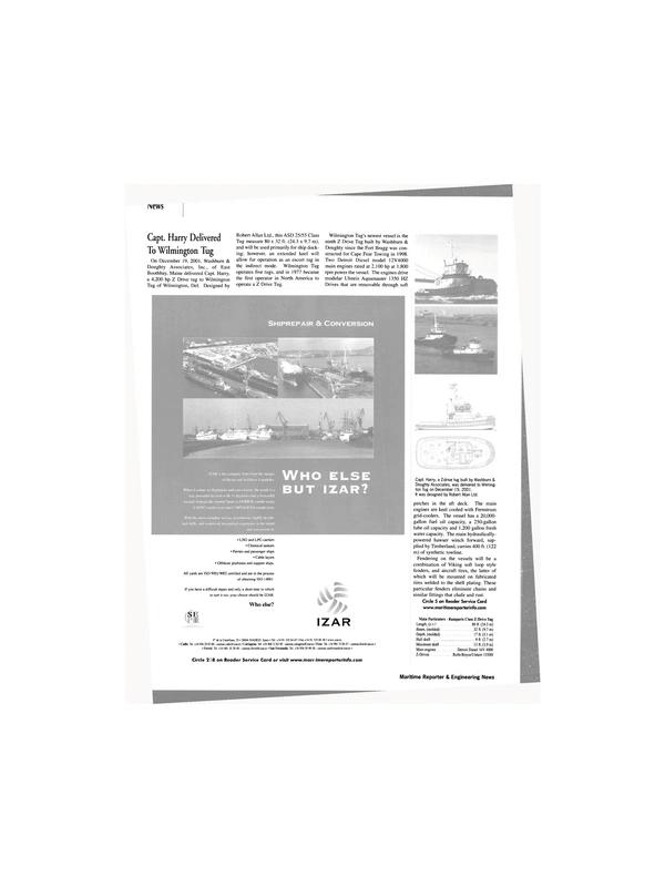 Maritime Reporter Magazine, page 18,  Feb 2002