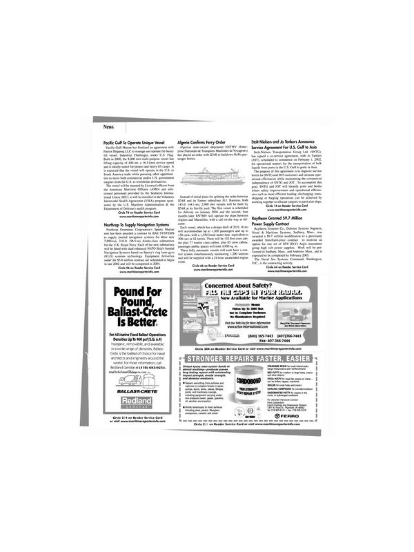 Maritime Reporter Magazine, page 19,  Feb 2002