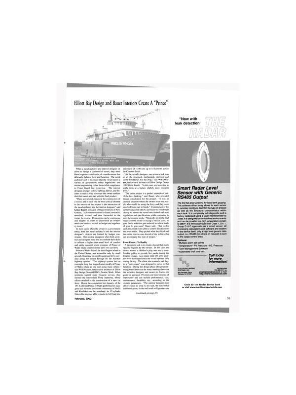 Maritime Reporter Magazine, page 31,  Feb 2002