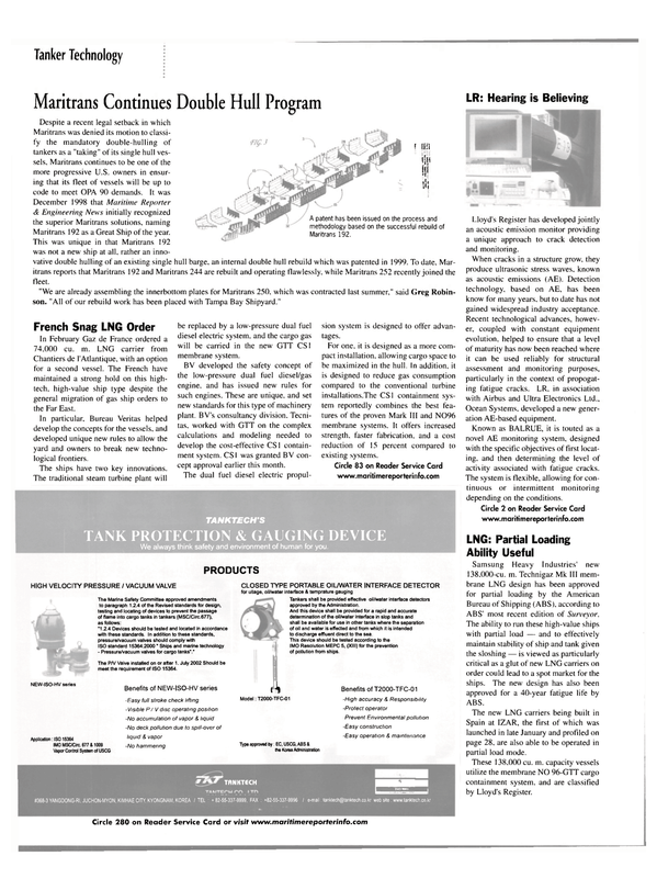 Maritime Reporter Magazine, page 32,  Mar 2002 Far East