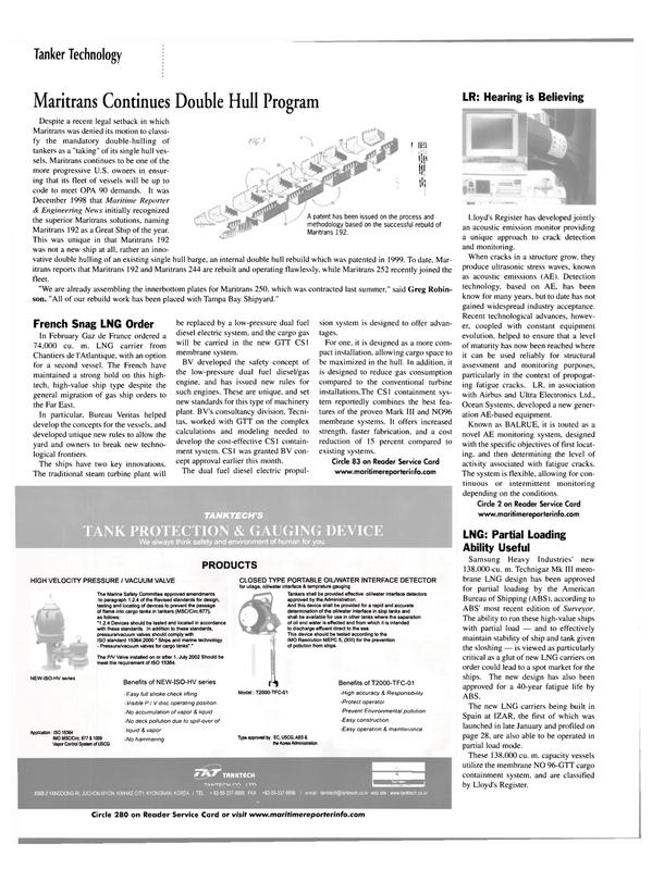 Maritime Reporter Magazine, page 32,  Mar 2002 Far East