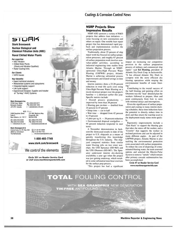 Maritime Reporter Magazine, page 38,  Mar 2002 Ed Fleming