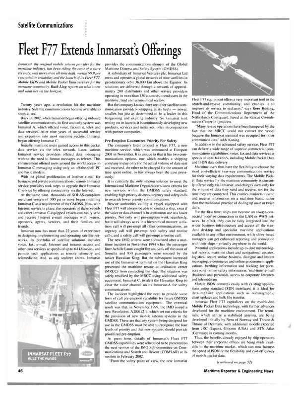 Maritime Reporter Magazine, page 46,  Mar 2002