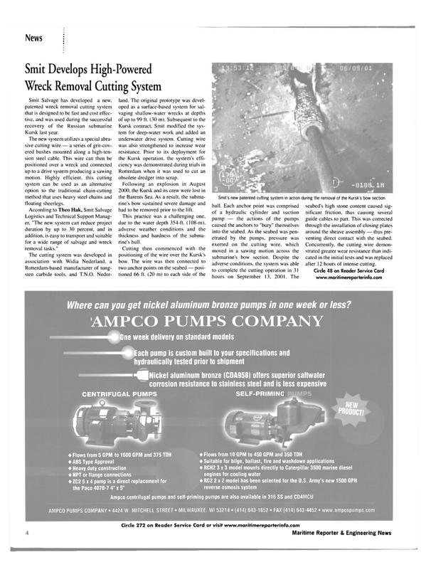 Maritime Reporter Magazine, page 4,  Mar 2002 sten carbide tools