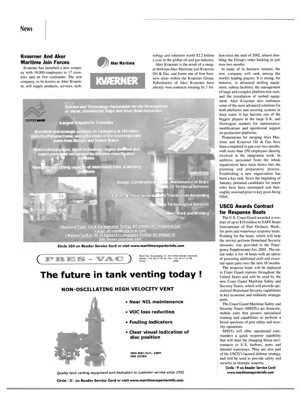 Maritime Reporter Magazine, page 12,  Apr 2002 Panama Canal