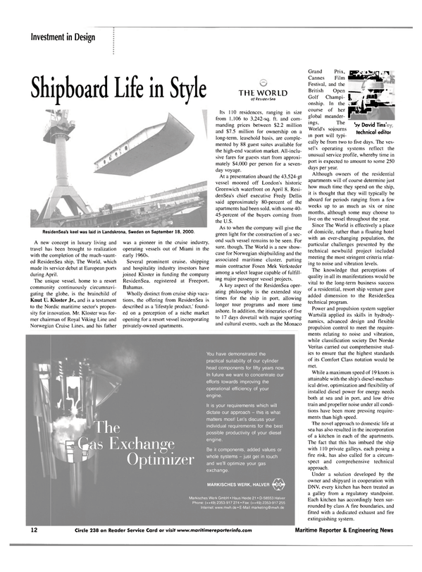 Maritime Reporter Magazine, page 12,  May 2002