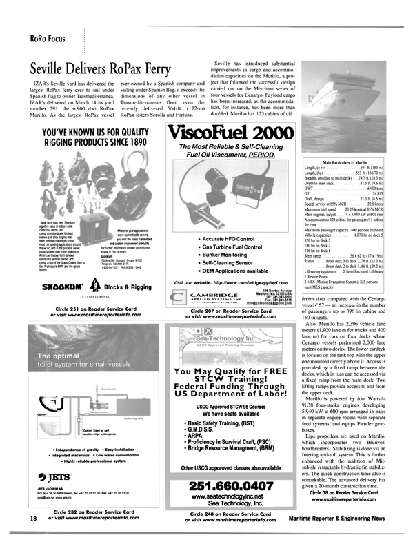 Maritime Reporter Magazine, page 18,  May 2002
